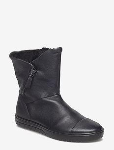 FARA - flat ankle boots - black