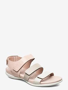 FLASH - flat sandals - shadow white/gravel/rose dust