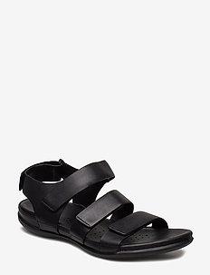 FLASH - platte sandalen - black