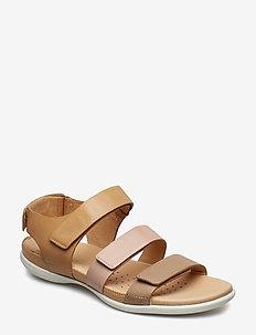 FLASH - flat sandals - dune/rose dust/powder