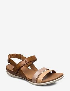 FLASH - flat sandals - powder/champagne metallic/bast