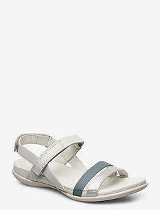 FLASH - platte sandalen - alu silver/trooper/shadow white