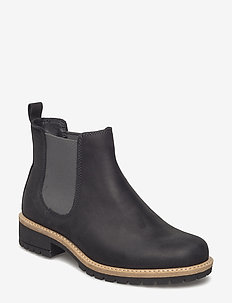 ELAINE - flat ankle boots - black