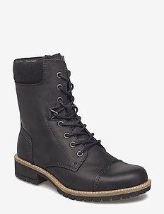ELAINE - platta ankelboots - black/black