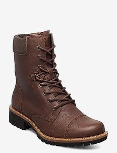 ELAINE - platta ankelboots - cocoa brown/dark clay