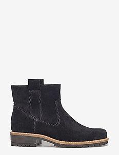 ELAINE - flat ankle boots - black