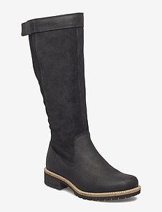 ELAINE - lange laarzen - black/black