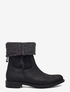 SARTORELLE 25 - flat ankle boots - black/black