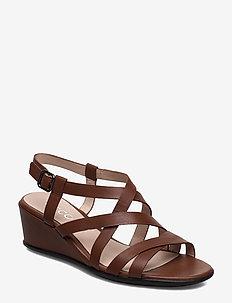 SHAPE 35 WEDGE SANDAL - flat sandals - cinnamon
