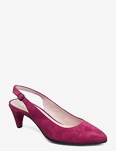 SHAPE 45 POINTY SLEEK - slingbacks - sangria
