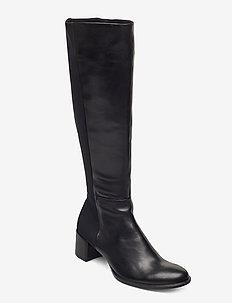SHAPE 35 BLOCK - lange laarzen - black/black
