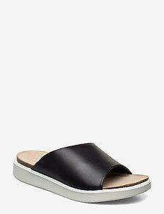 CORKSPHERE SANDAL - flat sandals - black