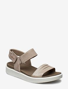FLOWT W - flat sandals - moon rock silver/warm grey metallic