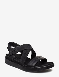 FLOWT W - flat sandals - black/black