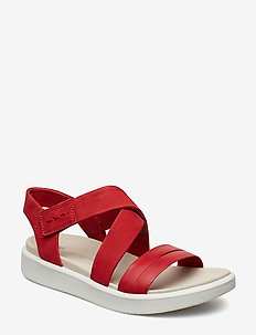 FLOWT W - flat sandals - chili red/chili red