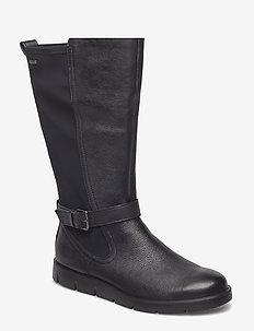 BELLA - lange laarzen - black
