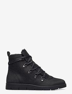 BELLA - flat ankle boots - black