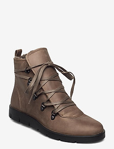 BELLA - flat ankle boots - stone