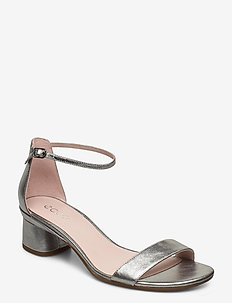 ELEVATE 45 BLOCK SANDAL - heeled sandals - alusilver