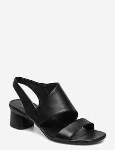 ELEVATE 45 BLOCK SANDAL - høyhælte sandaler - black