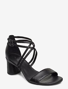 ELEVATE 65 BLOCK SANDAL - højhælede sandaler - black