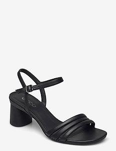 ELEVATE 65 BLOCK SANDAL - sandały na obcasie - black