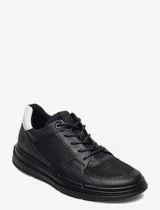 SOFT X W - låga sneakers - black/black