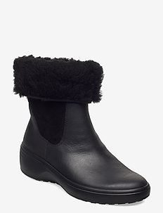 SOFT 7 WEDGE TRED - flat ankle boots - black/black