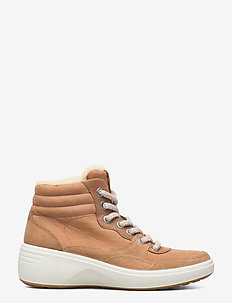 SOFT 7 WEDGE TRED - flat ankle boots - cashmere/cashmere/whiskey