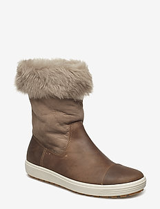 SOFT 7 TRED W - flat ankle boots - navajo brown/moon rock