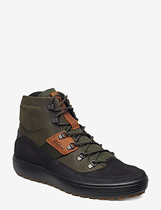 SOFT 7 TRED M - laced boots - black/deep forest/amber