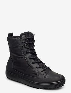 SOFT 7 TRED W - flat ankle boots - black/black/black