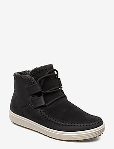SOFT 7 TRED W - flat ankle boots - black/black