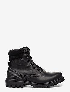 TREDTRAY W - flade ankelstøvler - black/black