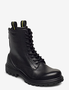 TREDTRAY W - platta ankelboots - black