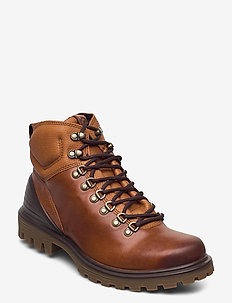 TREDTRAY M - laced boots - amber/amber