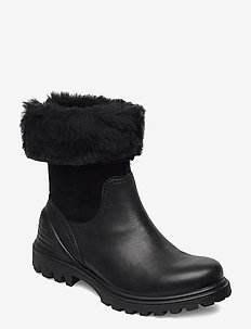 TREDTRAY W - flat ankle boots - black/black
