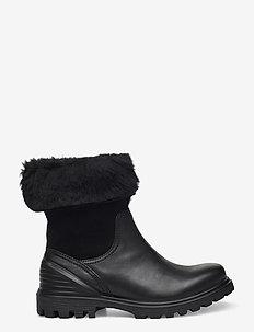 TREDTRAY W - flat ankle boots - black/black