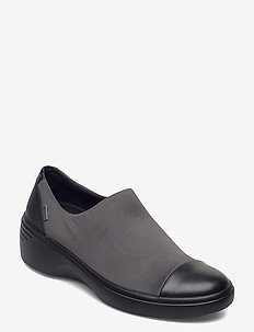 SOFT 7 WEDGE W - slip-on sneakers - black/magnet