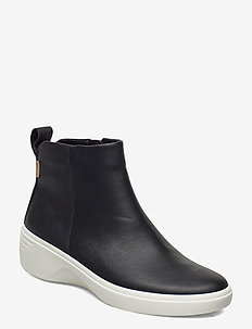 SOFT 7 WEDGE W - platte enkellaarsjes - black