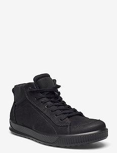 BYWAY - laag sneakers - black/black