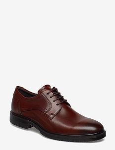 LISBON - laced shoes - cognac