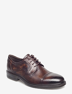 LISBON - laced shoes - cocoa brown