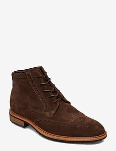 VITRUS I - laced boots - coffee