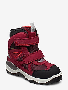 SNOW MOUNTAIN - vinter boots - black/red plum