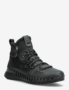 ZIPFLEX W - korkeavartiset tennarit - black/black