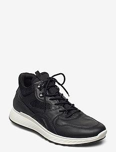 ST.1 M - höga sneakers - black/black