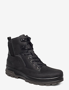 RUGGED TRACK - laced boots - black/black
