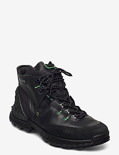 EXOHIKE M - laced boots - black/black