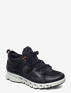MULTI-VENT W - lage sneakers - black/black/coral neon